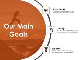 Our Main Goals Powerpoint Slide Inspiration