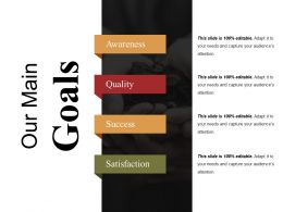 Our Main Goals Powerpoint Slides Templates