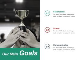 Our Main Goals Ppt Slide Show Template 2