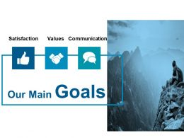 Our Main Goals Ppt Slides Infographic Template