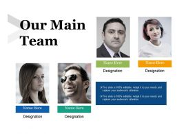Our Main Team With Four Images Ppt Icon Model