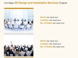 Our Major Av Design And Installation Services Projects Ppt Powerpoint Presentation File Skills