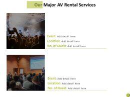 Our Major Av Rental Services Ppt Powerpoint Presentation Summary Slide