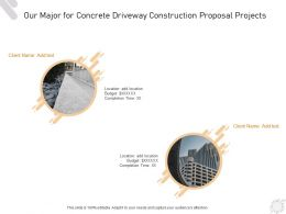 Our Major For Concrete Driveway Construction Proposal Projects Ppt Powerpoint Presentation Styles
