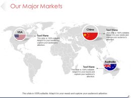 Our Major Markets Ppt Background Graphics