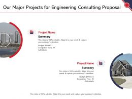 Our Major Projects For Engineering Consulting Proposal Ppt Powerpoint Presentation Template