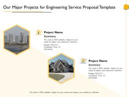 Our Major Projects For Engineering Service Proposal Template Ppt Powerpoint Presentation Samples