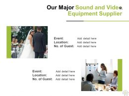 Our Major Sound And Video Equipment Supplier Ppt Powerpoint Presentation Summary