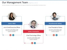 Our Management Team James Anastasios Ppt Powerpoint Presentation Infographic Template