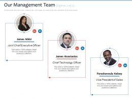 Our Management Team James Nikki Ppt Powerpoint Presentation Icon Deck