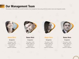 Our Management Team R431 Ppt Powerpoint Presentation File Icon