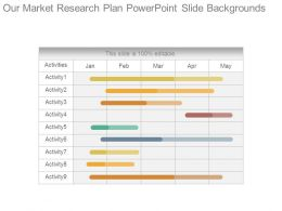 Our Market Research Plan Powerpoint Slide Backgrounds