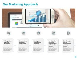 Our Marketing Approach Ppt Powerpoint Presentation Inspiration Display