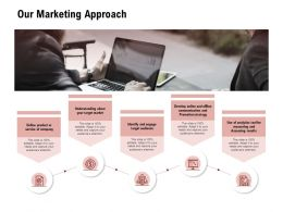 Our Marketing Approach Target Audience Ppt Powerpoint Presentation Infographics Topics