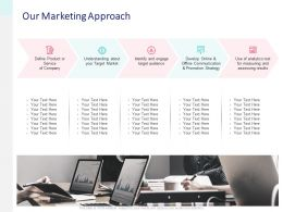 Our Marketing Approach Teamwork Ppt Powerpoint Presentation Diagram Lists