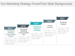Our Marketing Strategy Powerpoint Slide Backgrounds