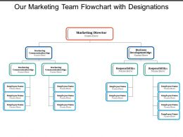 Our Marketing Team Flowchart With Designations