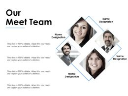 Our Meet Team Communication F234 Ppt Powerpoint Presentation Pictures Mockup