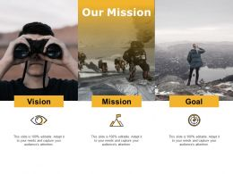 Our Mission Achievement I292 Ppt Powerpoint Presentation Gallery Formats