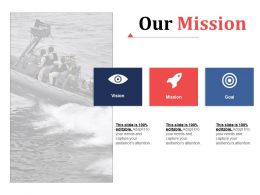 Our Mission Advertising Channels Ppt Infographic Template Brochure