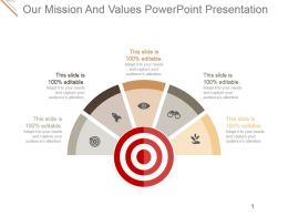 Our Mission And Values Powerpoint Presentation
