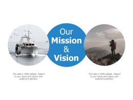 Our Mission And Vision Company E427 Ppt Powerpoint Presentation Infographics Visuals