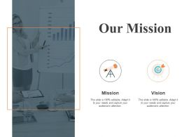 Our Mission And Vision F311 Ppt Powerpoint Presentation Pictures Background