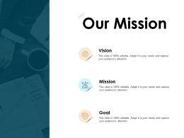 Our Mission And Vision Goal D112 Ppt Powerpoint Presentation Ideas Sample