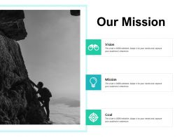 Our Mission And Vision Goal D154 Ppt Powerpoint Presentation Gallery Visual Aids
