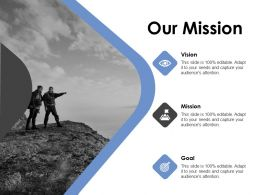 Our Mission And Vision Goal D186 Ppt Powerpoint Presentation Ideas Layouts