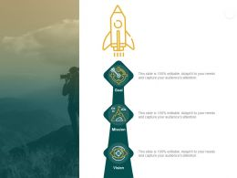 Our Mission And Vision Goal D20 Ppt Powerpoint Presentation Model Infographic Template