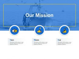 Our Mission And Vision Goal D23 Ppt Powerpoint Presentation Model Skills