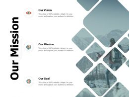 Our Mission And Vision Goal D261 Ppt Powerpoint Presentation Icon Samples