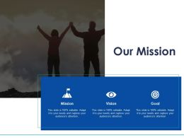 Our Mission And Vision Goal D33 Ppt Powerpoint Presentation Slides Example