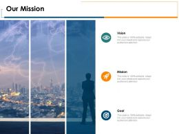 Our Mission And Vision Goal D343 Ppt Powerpoint Presentation Portfolio Rules