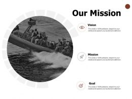 Our Mission And Vision Goal D45 Ppt Powerpoint Presentation Layouts Template