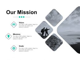 Our Mission And Vision Goal D53 Ppt Powerpoint Presentation Ideas Visuals