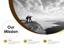 Our Mission And Vision Goals D313 Ppt Powerpoint Presentation File Outfit