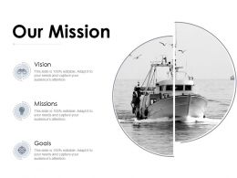 Our Mission And Vision Goals D73 Ppt Powerpoint Presentation Infographic Template Deck