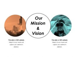 Our Mission And Vision Powerpoint Show Template 1