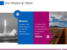 Our Mission And Vision Ppt File Outline