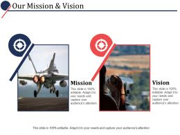 Our Mission And Vision Ppt Powerpoint Presentation File Designs Download