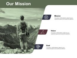 Our Mission And Vision Ppt Powerpoint Presentation File Example File