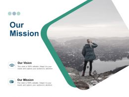 Our Mission And Vision Ppt Powerpoint Presentation Gallery Ideas