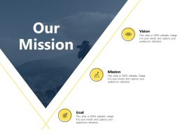 Our Mission And Vision Ppt Powerpoint Presentation Outline Master Slide