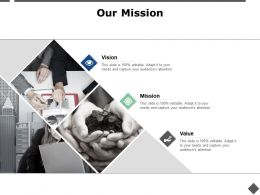 Our Mission And Vision Value D98 Ppt Powerpoint Presentation Ideas Templates