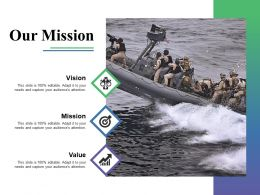 Our Mission Business Culture Ppt Powerpoint Presentation File Deck