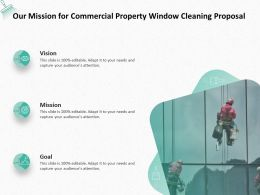 Our Mission For Commercial Property Window Cleaning Proposal Ppt Powerpoint Presentation