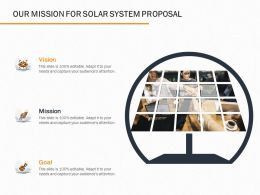 Our Mission For Solar System Proposal Ppt Powerpoint Presentation File Graphics