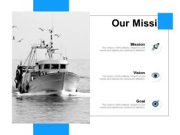 Our Mission Goa Vision F75 Ppt Powerpoint Presentation Pictures Example Topics